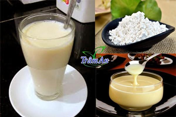 cách pha bột sắn dây với sữa đặc